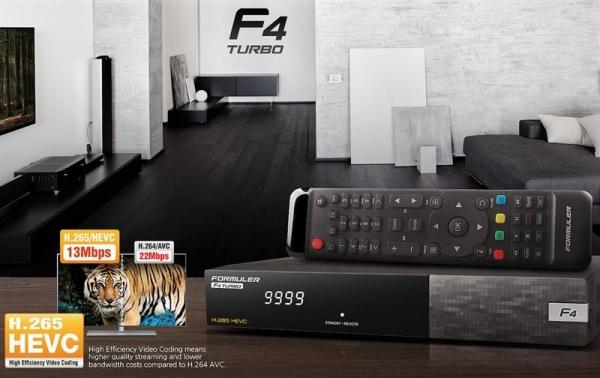 Formuler F4 Turbo H2.65 HDTV Linux Receiver mit DVB-S/S2 + IR-Empfänger